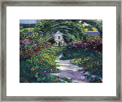 The Grand Allee Giverny Framed Print by David Lloyd Glover