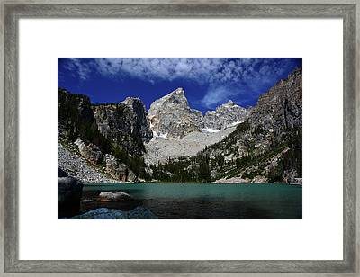 The Grand And Mount Owen From Delta Lake Framed Print by Raymond Salani III