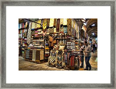 The Grand Bazaar In Istanbul Turkey Framed Print