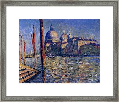 The Grand Canal And Santa Maria Framed Print by Monet