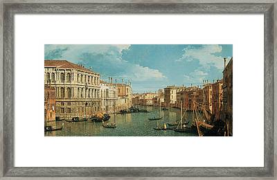 The Grand Canal Framed Print by Canaletto