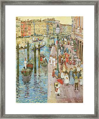 The Grand Canal Venice Framed Print by Maurice Prendergast