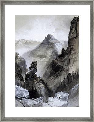The Grand Canyon Drawing            Framed Print by Thomas Moran