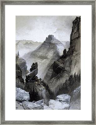 The Grand Canyon - Head Of The Old Hance Trail Framed Print by Thomas Moran