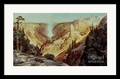 Grand Canyon Of The Yellowstone Framed Prints
