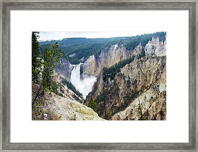 The Grand Canyon Of Yellowstone Framed Print