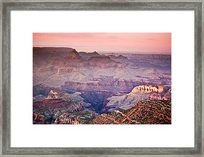 The Grand Canyon  South Rim At Dusk Framed Print by Ryan Kelly