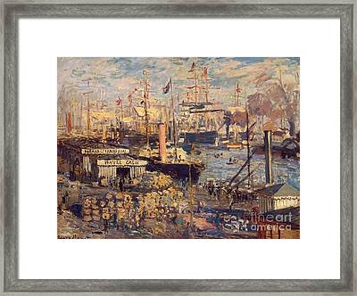 The Grand Dock At Le Havre Framed Print by Monet
