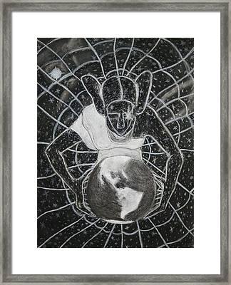 The Grand Mother Spider Framed Print by Tony Sasser jr
