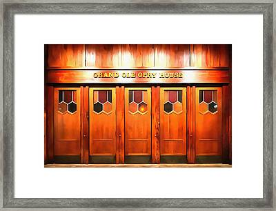 The Grand Ole Opry Framed Print by Dan Sproul