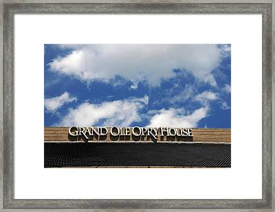 The Grand Ole Opry Nashville Tn Framed Print by Susanne Van Hulst