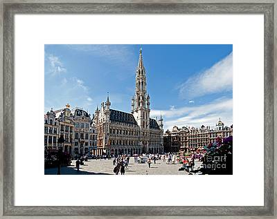 The Grand Place Framed Print