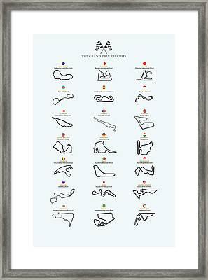 The Grand Prix Circuits Framed Print