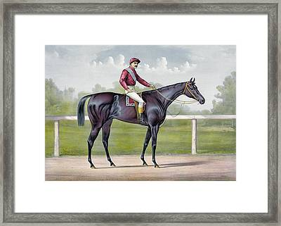 The Grand Racer Kingston  Framed Print by Currier and Ives