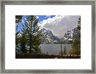 The Grand Tetons And The Lake Framed Print by Susanne Van Hulst