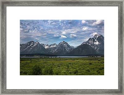 The Grand Tetons Framed Print