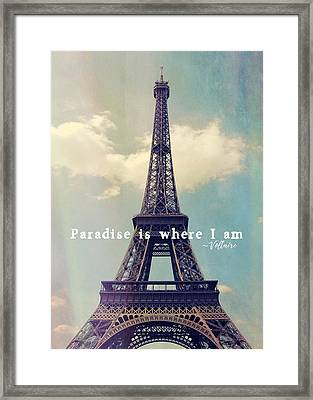 The Grande Dame Quote Framed Print by JAMART Photography