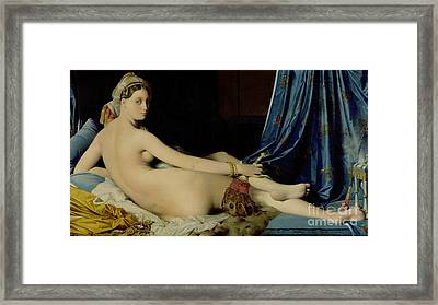 The Grande Odalisque Framed Print