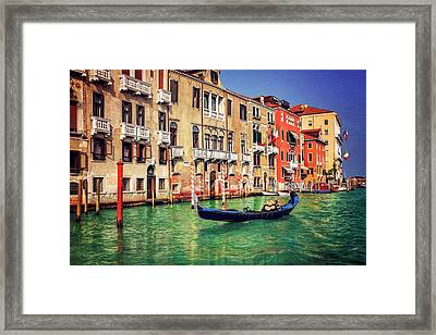 The Grandeur Of The Grand Canal Venice  Framed Print
