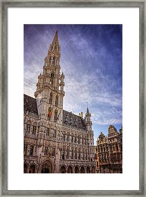 The Grandeur Of The Grand Place Brussels  Framed Print