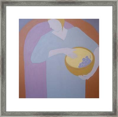 The Grape Bearer Framed Print by Renee Kahn