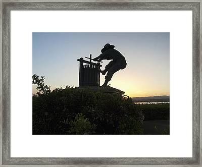 The Grape Crusher Napa Valley California Framed Print by George Oze
