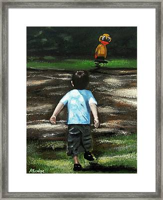 The Grass Is Always Greener On The Other Side Framed Print by Andrea Realpe