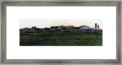 The Grass Is Greener Framed Print by Denny Bond