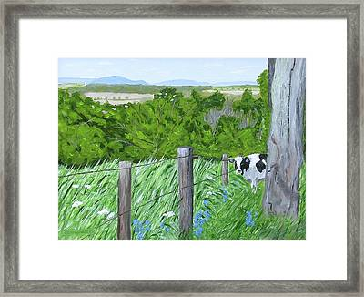 'the Grass Sings In The Meadow' Framed Print