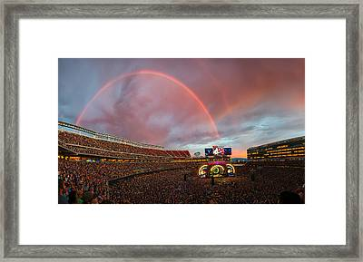 The Grateful Dead Rainbow Of Santa Clara, California Framed Print