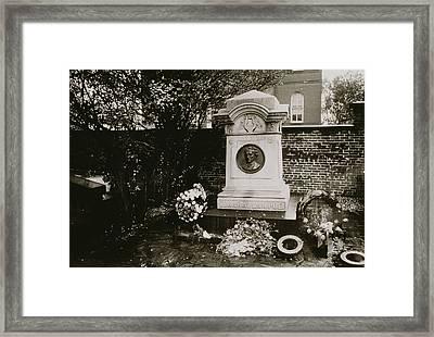 The Grave Of Edgar Allan Poe Framed Print