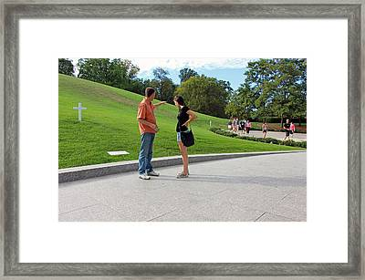 The Graves Of Robert F. Kennedy And Edward M. Kennedy -- Bobby And Ted Framed Print by Cora Wandel