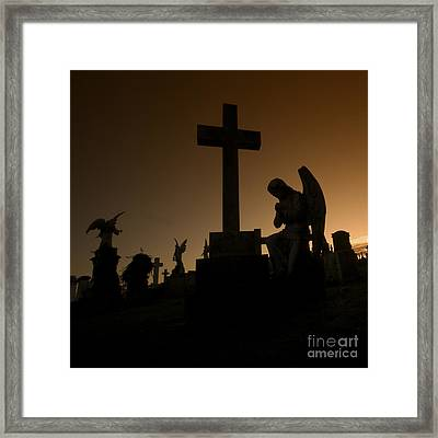 the Graveyard Framed Print by Angel  Tarantella