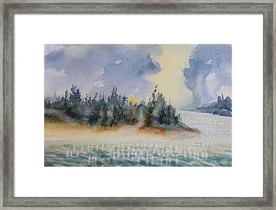 The Gray Clouds Framed Print