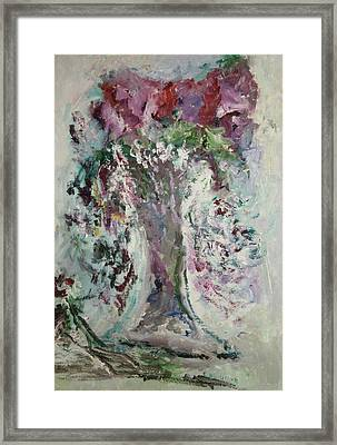The Gray Fluted Vase Framed Print by Edward Wolverton