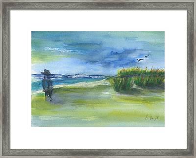 The Gray Man Visits Pawleys Island Sc Framed Print