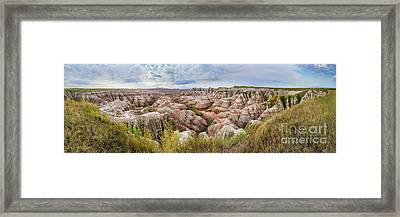 Deep And Wide Panorama Framed Print