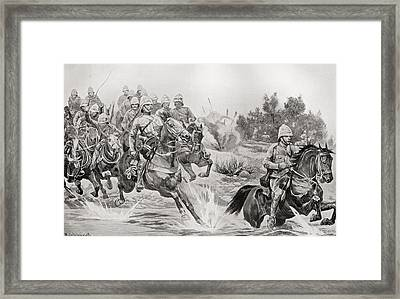 The Great Advance. Royal Horse Framed Print by Vintage Design Pics