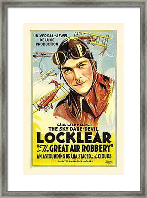 The Great Air Robbery 1919 Framed Print by Mountain Dreams