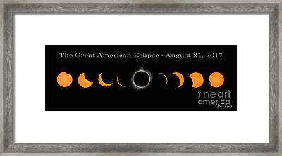 The Great American Eclipse Of 2017 Framed Print