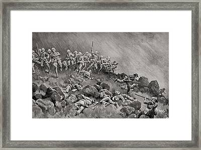 The Great Assault On Ladysmith Framed Print by Vintage Design Pics