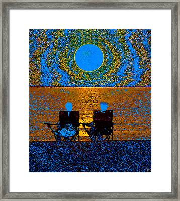 The Great Blue Moon Framed Print by David Lee Thompson