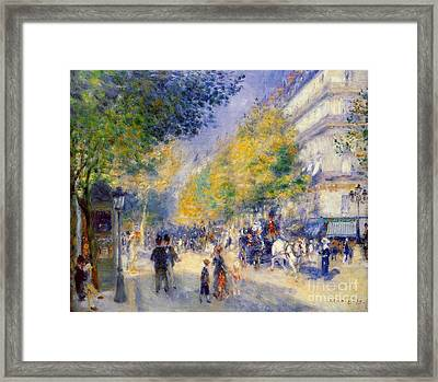The Great Boulevards Framed Print