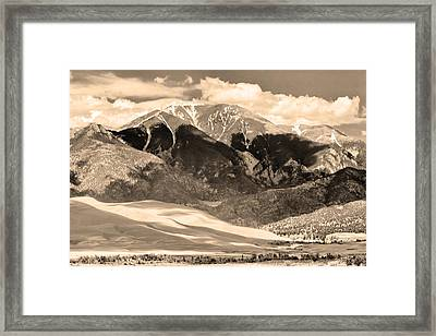 The Great Colorado Sand Dunes In Sepia Framed Print by James BO  Insogna