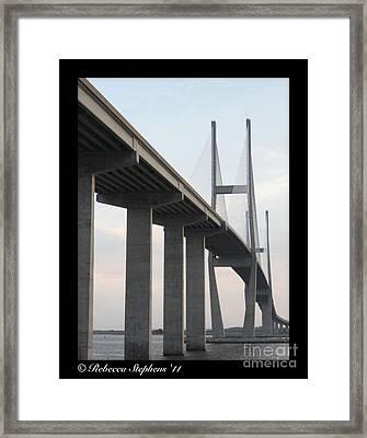 The Great Connection Sidney Lanier Bridge Framed Print