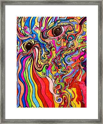 The Great Curl Framed Print by Brian Malpasso