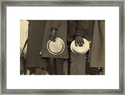 The Great Depression. African Americans Framed Print