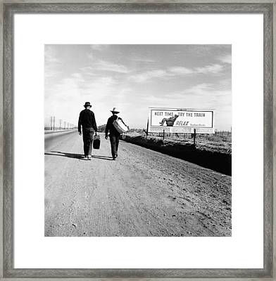 The Great Depression. Toward Los Framed Print