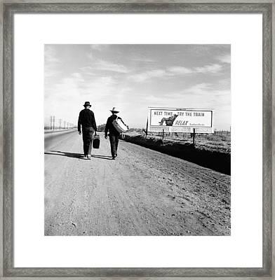 The Great Depression. Toward Los Framed Print by Everett