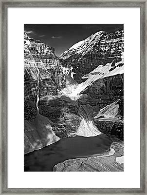The Great Divide Bw Framed Print by Steve Harrington